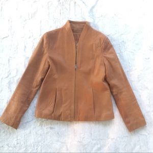 Knoles & Carter Lambs Skin Leather Jacket